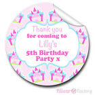 1xA4 Sheet Personalised princess castles Birthday Party bags GLOSSY STICKERS