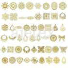 Metal Filigree Links Pendants Charms Findings Flower/Round/Oval/Square/Teardrop