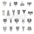 3-400pcs Tibetan Silver Slider Retro Bead Bail Connector Jewellery Finding