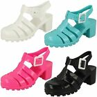 Girls Spot On Heeled Jelly Shoes - H3042