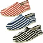 Mens Zig Zag Flat Slip On Striped Casual Gusset Shoe - A1079