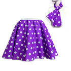 Ladies Womens Girls 1950s Rock n Roll Polka Dot Dance Skirt Fancy Dress Co