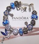 Authentic Pandora Sterling Silver Bracelet with Heart Love European Charms New~~