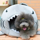 Warm Shark Mouth Pet Dog Cat House Removable & Washable Dog Bed Kennel