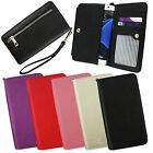 PU Leather Clutch Purse Folio Pouch Sleeve Fits NUU Phones