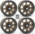"STI HD5 Beadlock ATV Wheels/Rims Bronze 15"" Sportsman RZR Ranger"