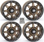 "STI HD5 Beadlock UTV Wheels/Rims Bronze 14"" Can-Am Commander Maverick (4)"
