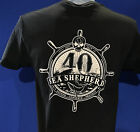 40th Anniversary Unisex Sea Shepherd  Black T-shirt
