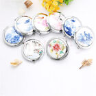 1pc Ceramic Compact Pocket Folding Makeup Cosmetic Magnifying Mirror New