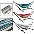 New Portable Double Hammock Outdoor Patio Space Saving Steel Stand Carrying Case