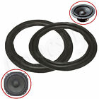 2X Speaker Edge Surround Decorative Circle Repair Rubber Bass Woofer Horn 4 Size