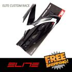 Elite Custom Race Water Bottle Cage Bike Glossy - Black White logo