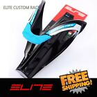 Elite Custom Race Water Bottle Cage Bike - Black Blue logo