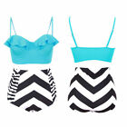 New Women High Waist Bikini Set Swimsuit Push Up Padded Bra Swimwear Plus Size