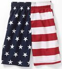 Op Boys USA American Flag Stars Stripes Red White & Blue Swim Trunk Board Shorts