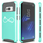 For Samsung S6 S7 Edge S8 + Dual Shockproof Case Infinity Love Cross Christian