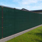 Customize 8'FT Privacy Screen Fence Green Commercial Windscreen Shade Cover1-160