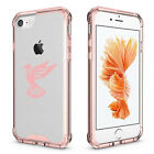 For Apple iPhone X 6 6s 7 8 Plus Clear Shockproof Bumper Case Cover Hummingbird