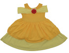 Girls Belle Beauty and the Beast Yellow Dress Rose Ruffles Costume Cosplay 2T-7