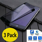 3 Pack Tempered Glass 3D Rounded Edges Screen Protector Film For iPhone 7 & Plus