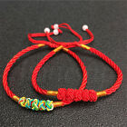 2pcs Red Colourful Chinese Lucky Red Thread Good Luck Rope Feng Shui Bracelet