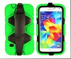 Light Green Heavy Duty Survival Case Cover+Built-in Screen For Samsung Galaxy S5