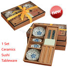 Compact Japanese tableware set Ceramics Sushi Saucer Set for Two in Gift BoxEasy