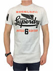 Superdry Mens Limited Icarus Tee T-Shirt in Ice Marl White