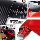 2M x 600MM Car Home DIY 3D Carbon Fiber Vinyl Wrap Roll Film Sticker Decal UK