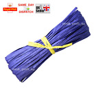 1m - 50m PURPLE COLOUR Raffia Paper Gifts Ribbon Decorating Scrapbook FAST CHEAP