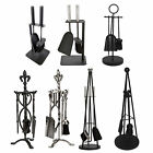 Crafters Companion Set Black Pewter Fireplace Cast Iron Brush Shovel Poker Tools