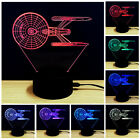 Lost In Space 3D Night Light 7 Color Change LED Desk Touch Table Lamp Kids Gifts