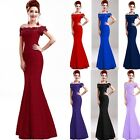 Long Lace Evening Formal Party Prom Cocktail Wedding Gown Bridesmaid Dress New