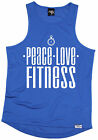 Peace Love Fitness MENS DRY FIT VEST birthday gift birthday gift running runner
