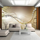 WALLPAPER NON WOVEN MURAL PHOTO FOTOTAPETE ABSTRACTION ART DIAMONDS GOLD 3281VE