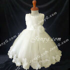 MFI7 Baby Girls Wedding Christening Formal Communion Pageant Party Gown Dress
