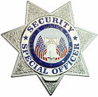 Tactical 365 Security Special  Officer 7 Point Star Badge | Gold or Nickel
