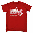 Firefighters Longest Hoses MENS T-SHIRT tee birthday gift fireman adult naughty