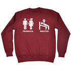 Problem Solved Gym SWEATSHIRT birthday fashion funny training weights gift