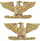 Tactical 365 Pair of Colonel Rank Insignia Pins  Gold, Nickel
