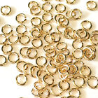 5pcs 14K Solid Yellow Gold 24 gauge Open Jump Rings Top Quality