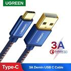 Ugreen USB A To Type C Cable Adapter Braided Tipo 3.1 6ft Charger Charging Data