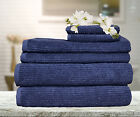 6 Pieces Egyptian Cotton Ribbon Bath Towels Set Bath Hand Towel Face Washer