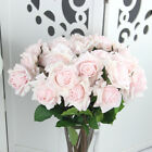 Real Touch Artificial Rose Peony Silk Flower Leaf Bouquet Home Floral Home Décor