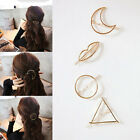 Women Fashion Metal Moon Circle Charm Hairpin Hair Clip Elegant Hair Accessories