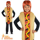 Child Hot Dog Costume Boys Girls Food and Drink Funny Fancy Dress Outfit
