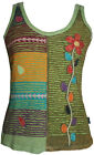 RTK 016 Agan Traders Nepal Hand Crafted Patch Razor Cut Bohemian Tank Top Camis