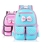 Girls Students PA Leather Spinal College Schoolbag Backpack 29*38*12CM