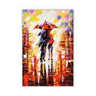 Abstract Winter Nights Umbrellas on Poster Print Decoration Wall Art Pictures