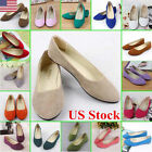 US Women Lady Boat Shoes Casual Flat Ballet Slip On Flats Loafers Single Shoes